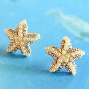 Golden Five-Pointed Star Starfish D..