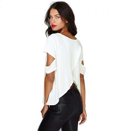 Fashion Sexy Women Short Sleeve Cre..