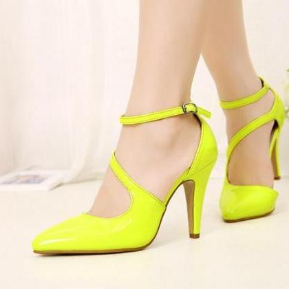 Fluorescent Color Patent Leather Hi..