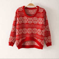 Loose Round Neck Long Sleeve Knit S..