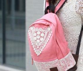 Pink Backpack With L..