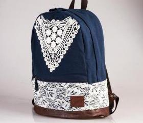 Blue Backpack With L..