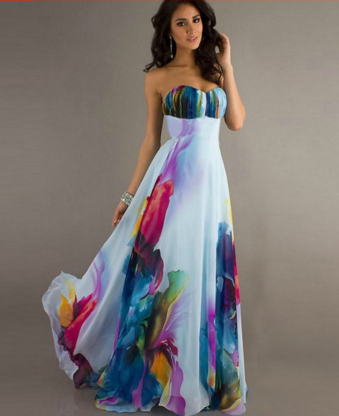 Chiffon Sleeveless Floral Maxi Dress