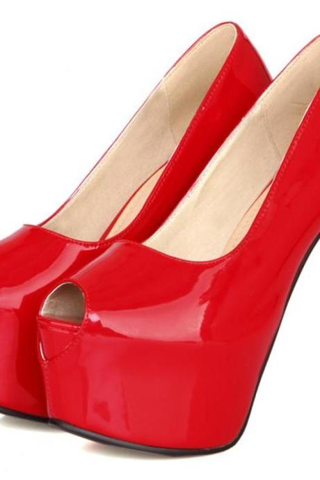 Hot Peep Toe Fashion Shoes In 4 Colors