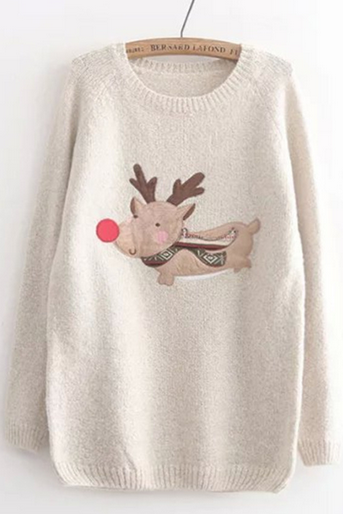 Knitted Reindeer Sweater
