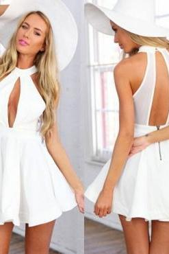 Cute White Mini Dress